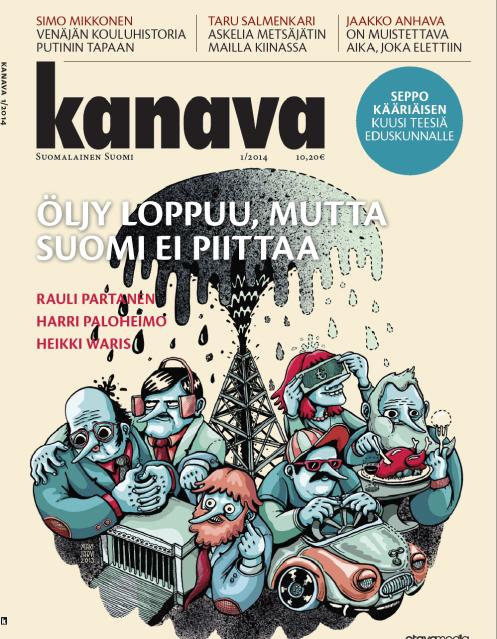 Tammikuun Kanava-lehden kansikuvajuttuna öljy-artikkelimme